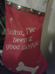 Dog Christmas sack