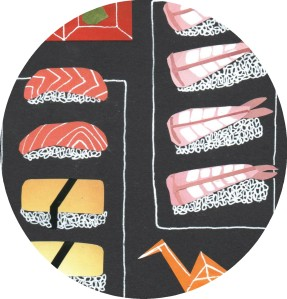 sushi illustration isobel barber