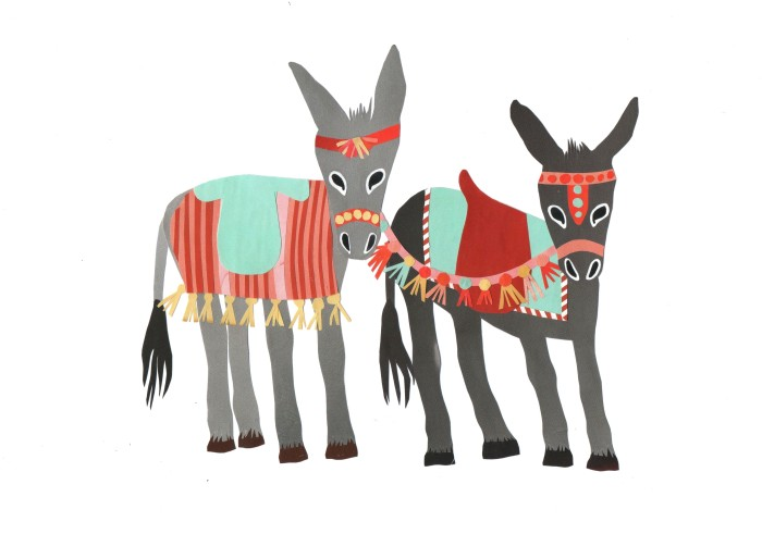 Seaside Donkeys Isobel Barber