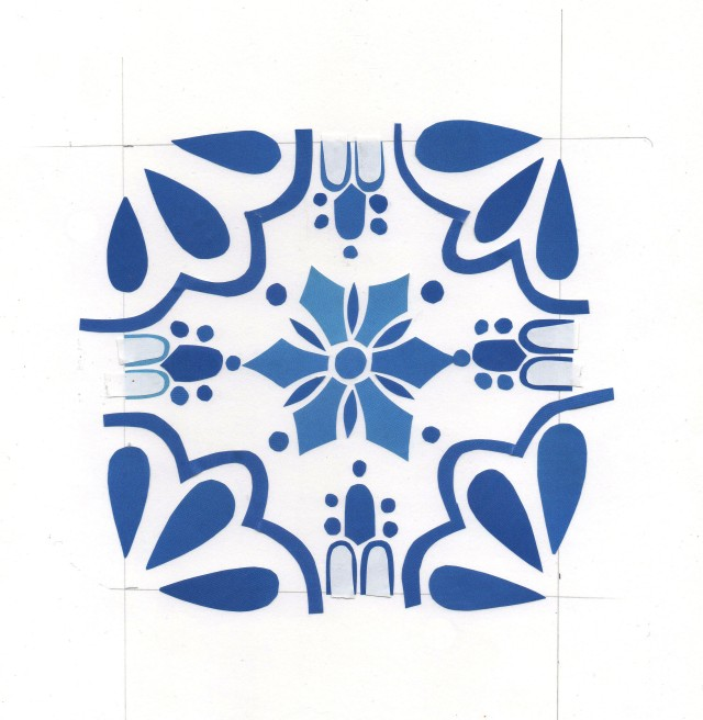 Spanish pattern papercut Isobel Barber