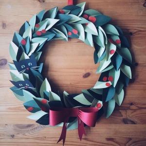 Isobel Barber Christmas Paper Wreath Workshop