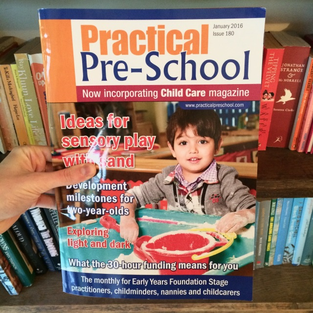 Practical pre-school childcare magazine papercut illustrations Isobel Barber