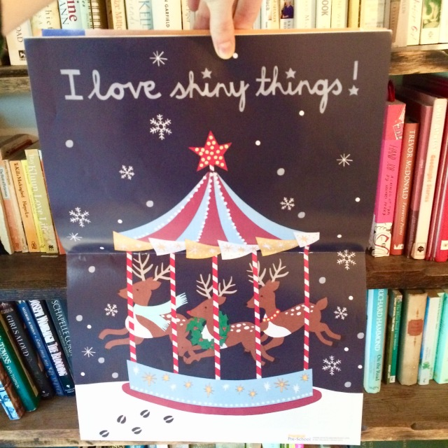 Practical pre-school childcare magazine papercut illustrations Isobel Barber 'I love shiny things'