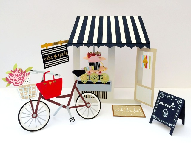 Isobel Barber paper cutting Kate Spade patisserie
