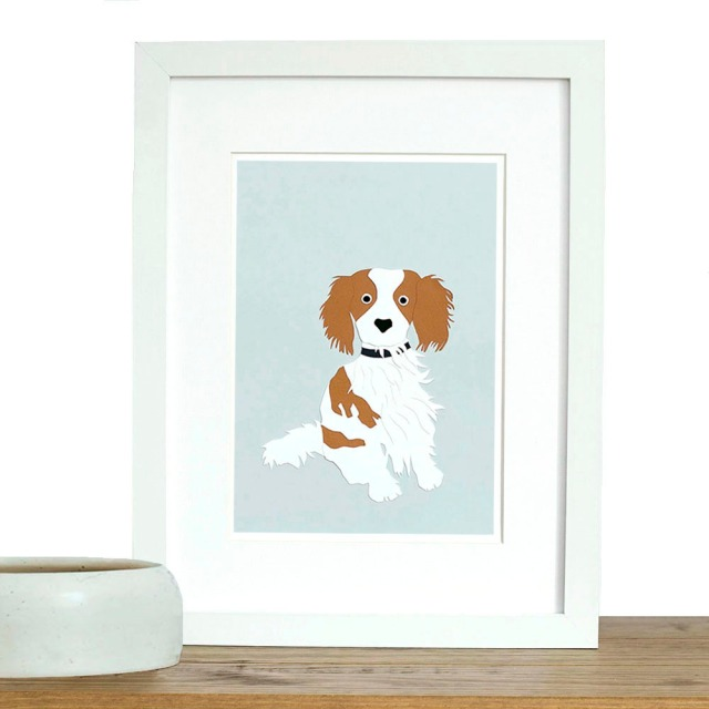 Isobel Barber paper cutting custom pet portrait