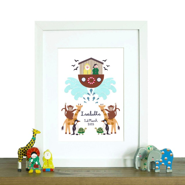 Isobel Barber papercut new baby print notonthehighstreet