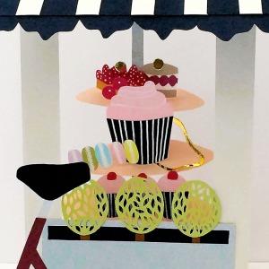 Isobel Barber papercut patisserie kate spade cupcake handbag