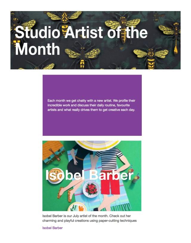 Isobel Barber papercut illustration bridgeman Studio