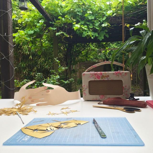 paper cutting studio Isobel Barber