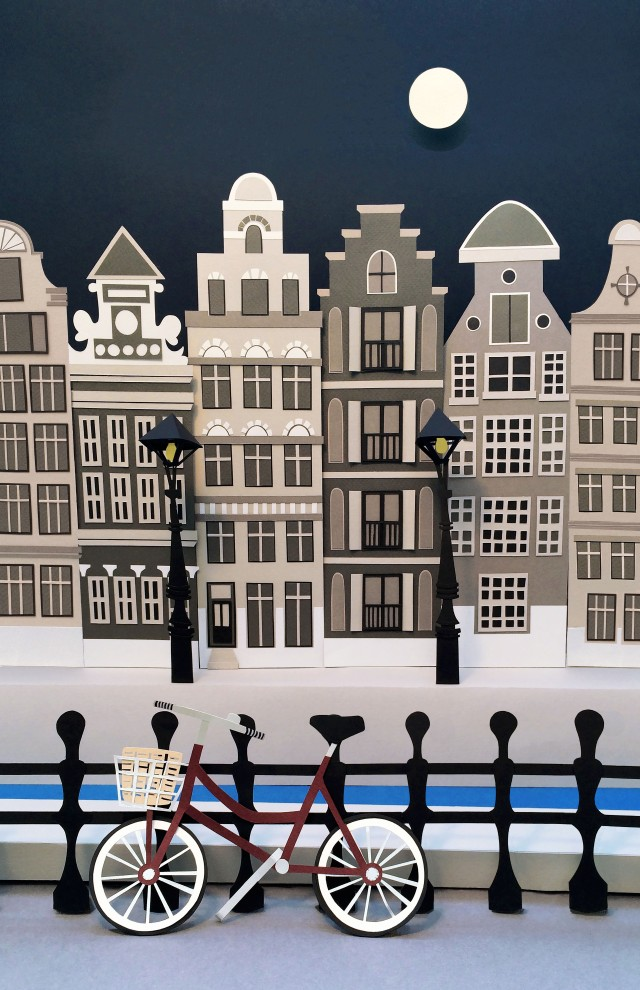 papercut cityscape buildings isobel barber
