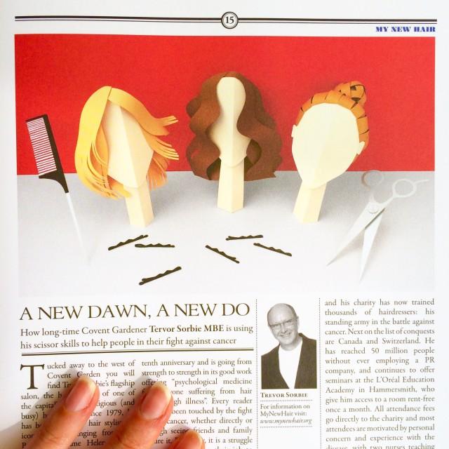 isobel barber papercut wigs trevor sortie charity